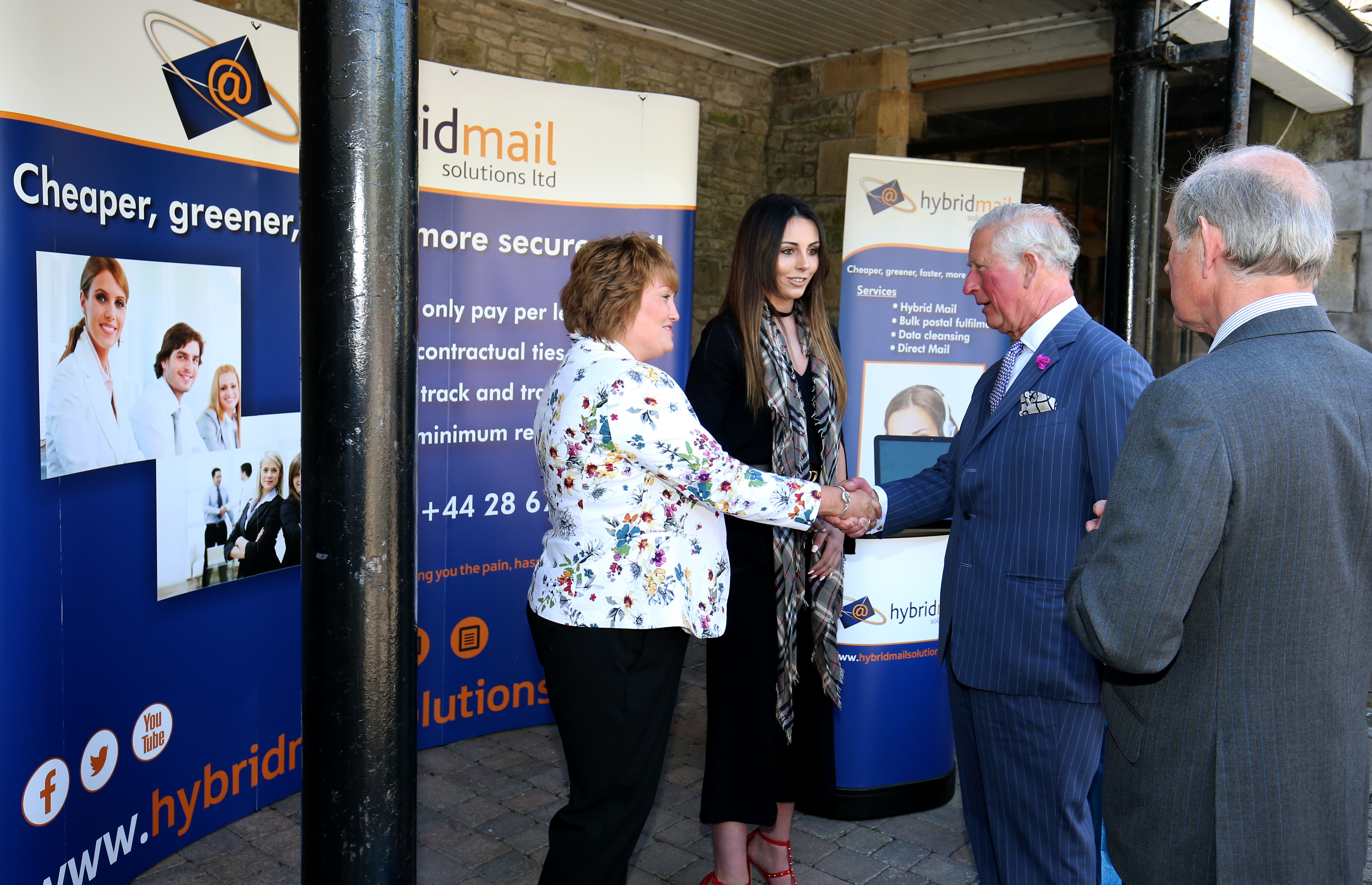 Prince Of Wales Meets Hybrid Mail Solutions